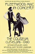 Fleetwood Mac 1977 Cleveland Concert Poster