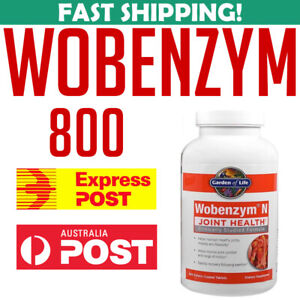 Garden Of Life Wobenzym N 800 tablets UPC 0310539029282 Australia Stock AU Joint
