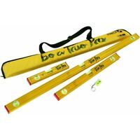 "STABILA 22135 Special Edition True Pro Level Set Type 80 AS 48"", 24"", 12"" w/Case"