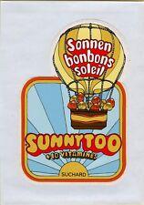ADESIVO STICKER VINTAGE SONNEN BONBONS SOLEIL SUNNYTOO SUCHARD + 10 VITAMINES