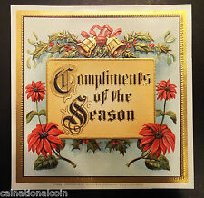 Compliments of the Season Cigar Box Label 1911