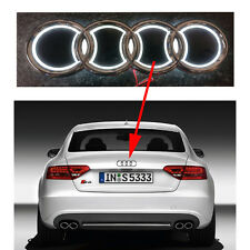 5 D Logo LED Hinter- Emblem weiß 18.5cm x 8.5cm Logo Licht Audi A1 A2 A3 A4 A5