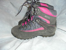 KARRIMOR WOMEN'S CHARCOAL/PINK LACE UP ANKLE BOOT  SIZE UK 4 EU 37 US 5 VGC