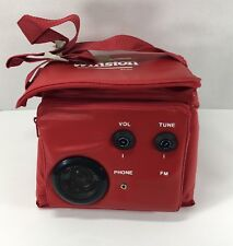 Winston Collapsible Soft Sided 6 Can Cooler with FM Radio and Headphone Jack