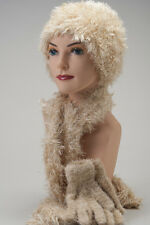 Champagne CHEMO HAT SCARF GLOVE SET Beige Cancer Patient Gift FREE SHIPPING!