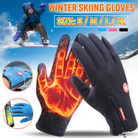 Unisex Winter Snow Skiing Gloves Ski Snowboard Thermal Touch Screen