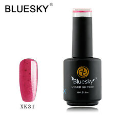 XK31 Bluesky Soak Off UV LED Gel Nail Polish Baby Pink Gold Glitter
