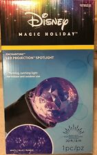 Disney Christmas MultiColor PROJECTION SWIRLING SPOTLIGHT Enchanting Blue Purple