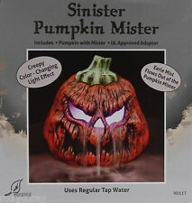 Halloween Sinister Pumpkin with Eerie Mister Fogger Creepy Color Changing NIB