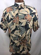 TORI Richard S/S Button Up FLORAL PRINT HAWAIIAN  SHIRT SZ. Large