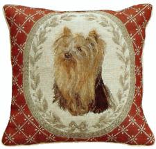 "16"" x 16"" Handmade Wool Needlepoint Petit Point Yorkshire Terrier Dog Pillow"