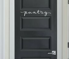 pantry in Script - Vinyl Decal Sticker Kitchen Decor Family Laundry Room Decal