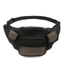 Unisex Outdoor Compact Security Money Waist Belt Bag (Black/Brown)