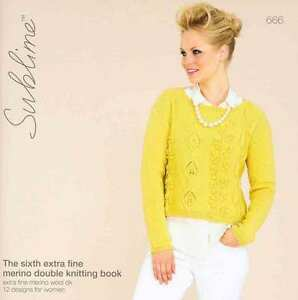 Sublime The Sixth Extra Fine Merino Double Knitting Book 666