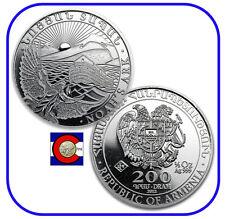 2012 Armenia 1/2 oz Silver 200 Drams Noah's Ark Coin