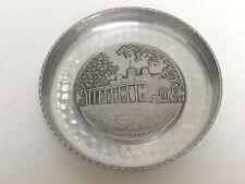 Vintage Hammered Aluminum Coaster Coin Dish Mt. Vernon, Va. Made in Switzerland
