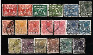 495) NETHERLANDS - NEDERLAND 144-162   2 x USED SETS 1924  NO WATERMARK  - €33.-