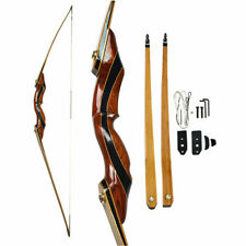 62'' Longbow Takedown 25-55lbs RH Archery Traditional Wooden Hunting Recurve Bow