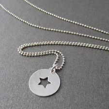 Collier pastille étoile en argent 925/1000e CO38