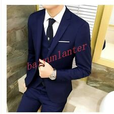Mens Stylish Business Wedding Dress Formal Coat Business Suits Jacket Pants New