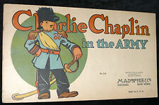 Platinum Age Comics Charlie Chaplan 1917 In The Army