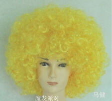 Kids Adult Mixed Disco Clown Football Supporter Fans Costume Party Afro Full Wig