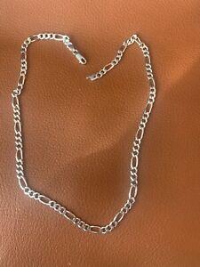 Cadena plata de ley maciza 0,925. Solid sterling silver. 15,1 gramos