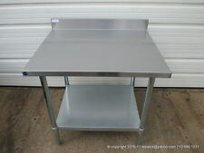 "New Stainless Steel Work Prep Table 36"" x 30"" , With Back Splash, NSF"