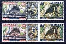 1958 MONACO N°496/498 LOURDES VARIETE GROTTE MORDOREE