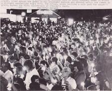 Elvis Presley Funeral 5th Anniv 1982 Type 1 UPI Press News Wire Photograph Photo
