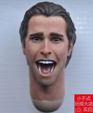 "1/6 scale Shouting American Psycho Christian Bale Head Sculpt fit 12"" body #C"