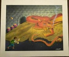 Lord of the Rings LOTR Tolkien Bilbo Stealing Smaug Original Published Final Art
