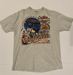 vintage harley davidson 1993 nashville TN grey t-shirt
