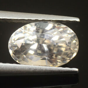 GIT CERTIFIED RARE GEMS STONE NATURAL COLORLESS JEREMEJEVITE 1.74 CT OVAL CUT