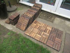 4.6m2 Ikea 'Runnen' Floor / Wooden Decking Tiles