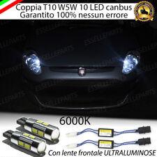 COPPIA LUCI DI POSIZIONE 10 LED FIAT PUNTO EVO T10 + SPEGNI SPIA 100% NO ERROR