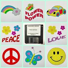 Peace and Love Embroidery Designs Floppy Disk for Husqvarna Viking  Designer 1