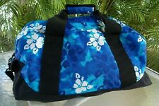 LL BEAN DUFFLE BAG MEDIUM SIZE BLUE ALOHA PRINT