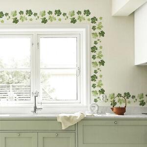 PLANT VINE LEAVES HOME WALL STICKER LIVING ROOM CORNER DECAL DIY DECOR NEW