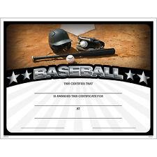 Baseball Award Certificate, Pack of 15