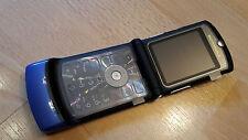 Motorola RAZR v3 Blue/Without Simlock/No branding/Folding Mobile Phone * LIKE NEW *
