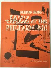 1953 Norman Granz' Jazz At The Philarmonic 13th Annual Tour Program