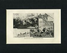 Battle Of Antietam And Fair Oaks Civil War Original Book Photo Display