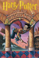 Harry Potter And the Sorcerers Stone Book Cover Poster 22x34 inch