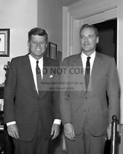 PRESIDENT JOHN F. KENNEDY WITH FAMILY FRIEND LEM BILLINGS - 8X10 PHOTO (ZY-425)