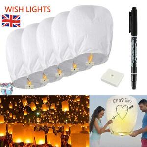 Chinese Lanterns Paper Wish Lamp Candle Colourful Balloon Wedding Party Celebrat