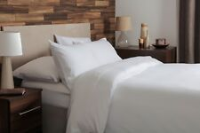 100% Brushed Cotton Flannelette Deep Fitted Sheet Small Double 4ft in White 38cm