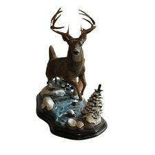 RARE! Danbury Mint ~ GREAT WINTER WHITETAIL ~ Deer Sculpture by Nick Bibby