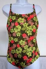 Pretty SWIMMING COSTUME Green/Pink/Floral UK 20/EU 48 349