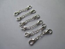 Reino Unido 6 piezas de extensión 35 mm Plata Collar/Pulsera Joyería Extensor Cadena